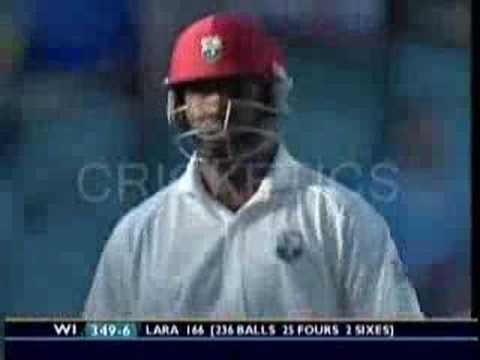 brian lara smashes biggest over in test