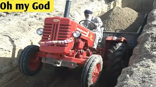 MAHINDRA 265 DI NEW TRACTOR, great stunt by old man, OHH MY GOD