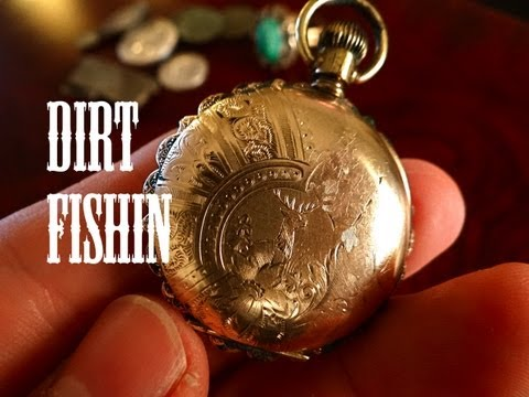 Dirt Fishin America: Metal Detecting Finds GOLD Pocket Watch. Live Dig!