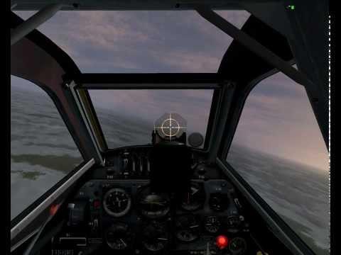 BF 109-G6 Late - бои в зимнем вечернем небе c Ла-5Фн