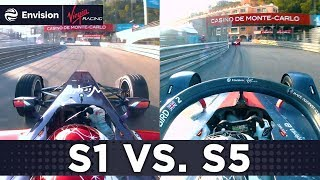 Formula E Speed Comparison Season 1 vs Season 5: Monaco Onboard Lap