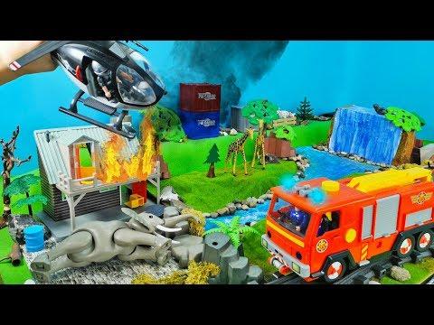 Feuerwehrmann Sam - Norman Price im Zoo! Es brennt! Spielzeug Film für Kinder