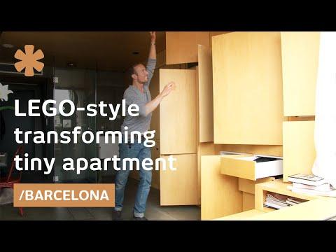 Lego-style apartment transforms into infinite spaces