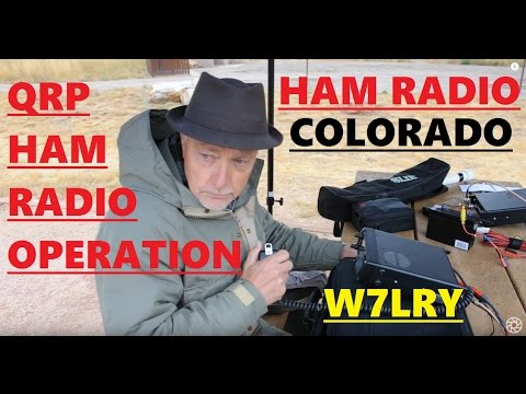 Icom IC-703 QRP portable ham radio operation horstooth reservior fort collins colorado