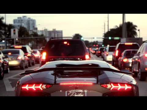 DMC Lamborghini Aventador LP900 with Loud Exhaust cruising in Miami