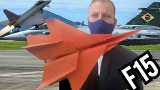 Como Fazer Um Avião De Papel. Avião De Origami Planador De Papel