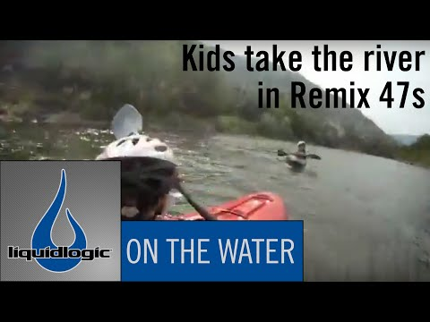 Fun Day Paddling with the kids in their Liquidlogic Remix 47 s