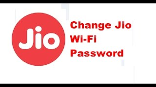 How to change password for Jio JioFi2 Wi-Fi device