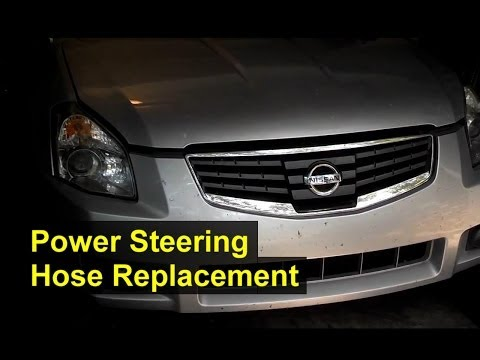 Nissan Maxima Power Steering High Pressure Hose Replacement - Auto Repair Series