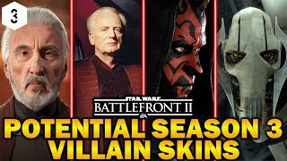 POTENTIAL SEASON 3 VILLAIN SKINS! Star Wars Battlefront 2