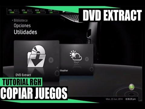 como extraer DVD en  xbox 360 RGH