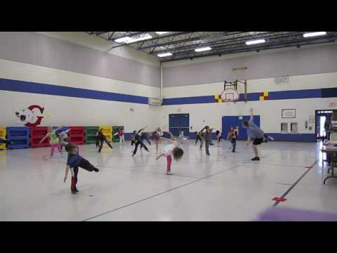 Kindergarten Dance: Cha Cha Slide - Physical Education Class
