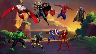 Phim hoạt hình thiếu nhi - Vui học cùng bé bí bo - Học đếm số với hoạt hình Avengers