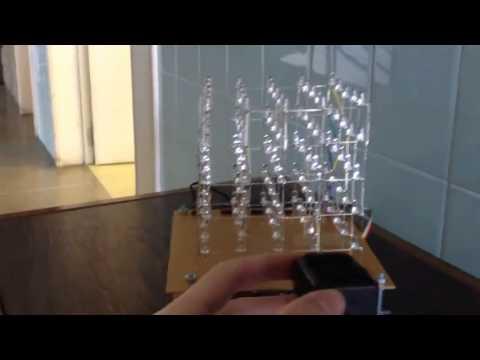 Cubo de LEDs 5x5x5 com acelerômetro