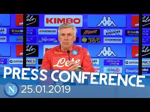 conferenza stampa alla vigilia di Milan - Napoli