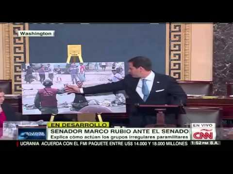 El Senador de EEUU Marco Rubio defiende a Venezuela ante el congreso