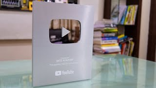 Silver Play Button Unboxing