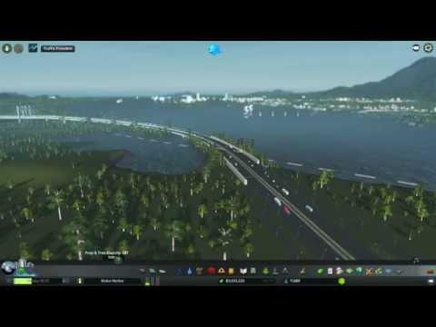 Cities: Skylines Ep 2 Wake Harbor - Time to make a hub