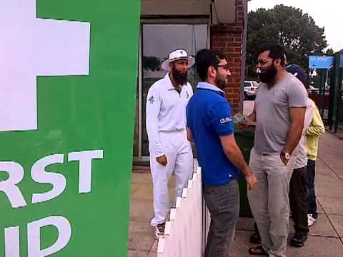 Hashim Amla and fans