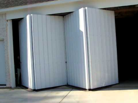 Closing An Accordion Style Manual Hangar Door Youtube