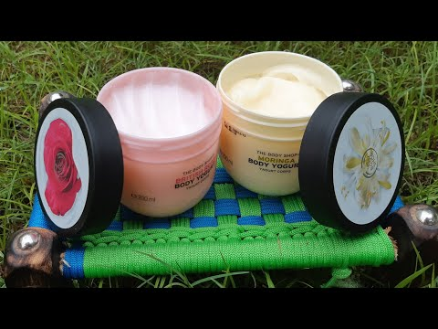 The body shop moringa body yogurt review, New launch, limited edition, best for summers & winters