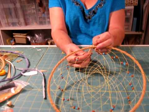 Dreamcatcher the essence and spirituality of the native for How to make a double ring dreamcatcher