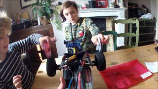 fidget spinners go CRAZY FAST on rc car wheels