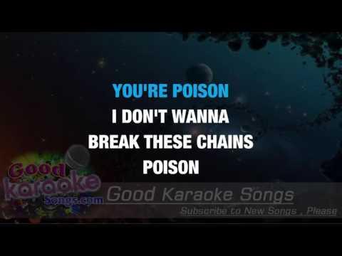Poison -  Alice Cooper (Lyrics Karaoke) [ goodkaraokesongs.com ]