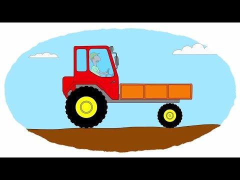 Das Zeichentrick-Malbuch. Farben lernen - Autos - Traktoren - Teil 3.