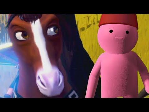 O equino comeu o bagulho rosa...