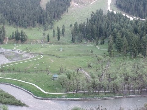 Picturesque Betab Valley At Pahalgam, Kashmir HD Video
