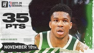 Giannis Antetokounmpo Full Highlights vs Thunder (2019.11.10) - 35 Pts, 3 Ast, 16 Reb!