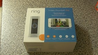 Ring Doorbell Pro UK - Unboxing and setup