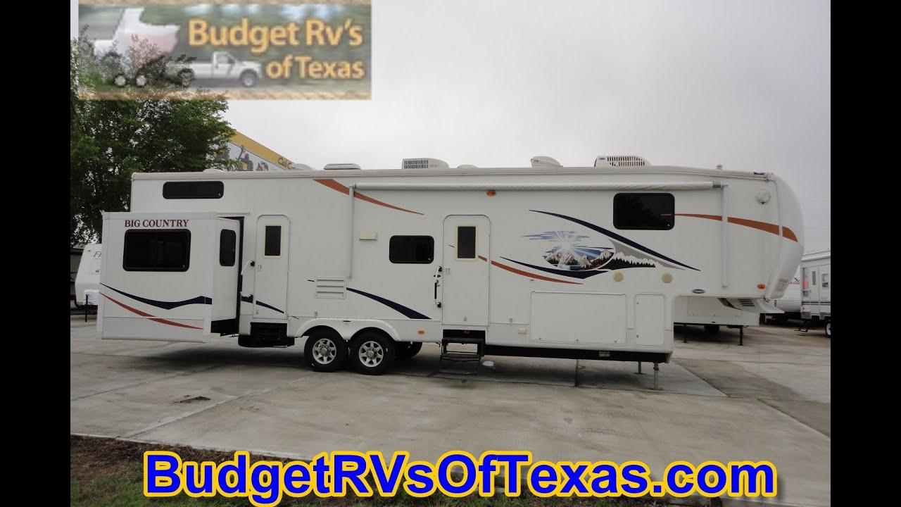 Mind blowing 2 bedroom 5th wheel bunk house 2009 big country 3550 tsl youtube Rv with 2 bedrooms 2 bathrooms