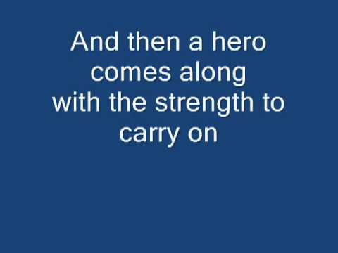 ‪mariah Carey - Hero [lyrics]‬‎ video