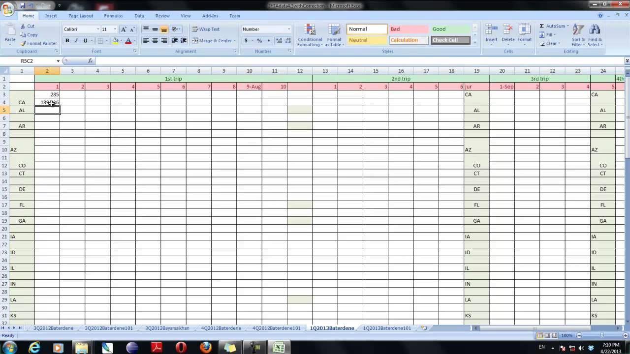ifta excel template