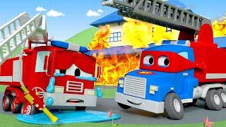 วิดิโอรถบรรทุกสำหรับเด็ก ซุปเปอร์ทรัค ฮีโร่ผจญเพลิง   🚚 คาร์ซิตี้ - การ์ตูนรถบรรทุกสำหรับเด็ก