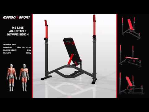 Marbo Sport Adjustable olympic bench MS-L105