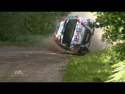 FIA ERC - Auto24 Rally Estonia 2016 - SS13 Gryazin Crash