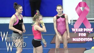 Whitney in the Gym | Wearing Pink for Maddison
