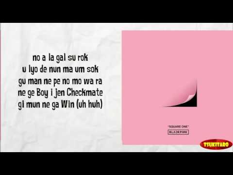 BLACKPINK - WHISTLE Lyrics (easy lyrics)
