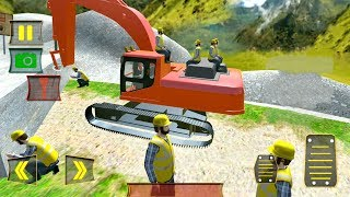 Heavy Excavator Stone Cutter Cargo   Road Construction - Android Gameplay FHD