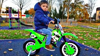 Ride on Motorbike Fun at Playground Toy Review