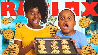 Baking Cookies Tycoon In Real Life! Shiloh and Sinead Play Roblox - Playonyx