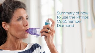 Summary of how to use the Philips Respironics OptiChamber Diamond