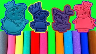 Learn Colors Play Doh Peppa Pig Molds Fun & Creative For Kids -  Finger Family Nursery Rhymes