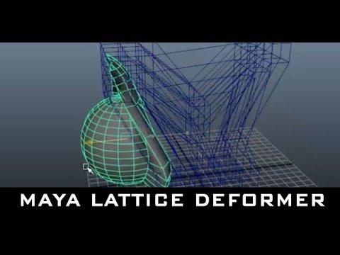 Maya Tutorial for Beginners - Lattice Deformer