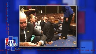 Democrats Stage Congressional Sit-In For Gun Control