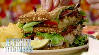 Gordon Struggles To Eat A GIANT Sandwich | Kitchen Nightmares