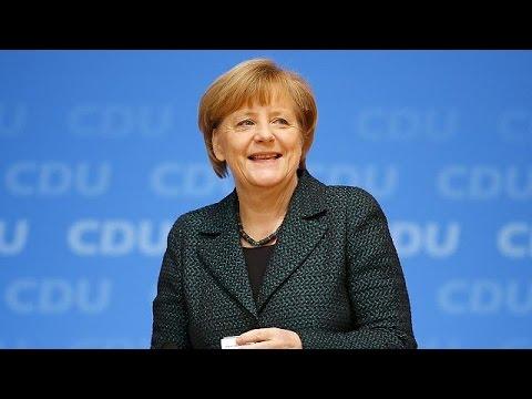 German Chancellor Angela Merkel re-elected leader of CDU party